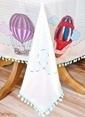 The Mia Balon Desenli Masa Örtüsü - 140*230 Cm Renkli
